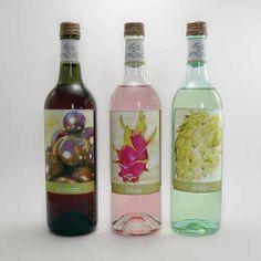 Vinhos De Frutas Fruit Wine labels by Jennifer Scodellaro, via Behance