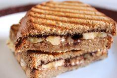 Almond Butter, Banana, and Chocolate Panini