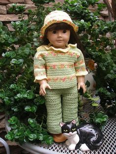 "Ravelry: American Girl 18"" doll Holly's Green Thumb pattern by Ase Bence"