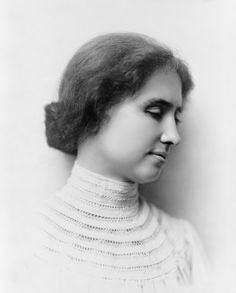 Isabelle - Helen Keller. American author, political activist, and lecturer. She was the first deaf and blind person to earn a Bachelor of Arts degree. The story of how her teacher, Anne Sullivan, broke through the isolation imposed by a near complete lack of language, has become widely known through the dramatic depictions of the play and film The Miracle Worker. A prolific author, Keller was well-traveled, and was outspoken in her opposition to war.