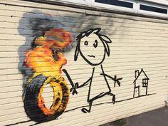 La nouvelle oeuvre de Banksy pour une école qui lui a rendu hommage