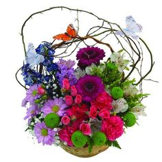 Blossoming Butterfly Basket