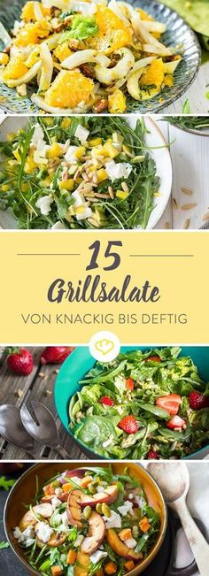 20 salads for grilling that taste like summer- 20 Salate zum Grillen, die nach Sommer schmecken Barbecue salads – from hearty to crunchy and fruity *** BBQ Salads – 15 Recipe Ideas – Taste of Summer - Bbq Salads, Summer Salads, Summer Food, Summer Ideas, Salad Recipes, Snack Recipes, Healthy Recipes, Dinner Recipes, Brunch Recipes
