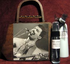 How do you fancy a wooden box/bag with Fred's face sellotaped to it @Gee Rodger ? Only $19.95 and you get the floral scent of rock 'n' roll (+ a free badge) haha