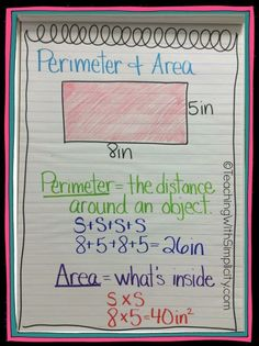 Area and perimeter a
