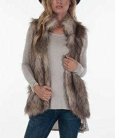 Love this Beige Freya Vest on #zulily! #zulilyfinds