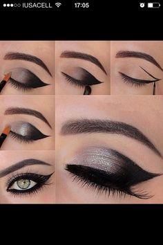 Eye Makeup Tips.Smokey Eye Makeup Tips - For a Catchy and Impressive Look Makeup Hacks, Makeup Tips, Beauty Makeup, Makeup Ideas, Makeup Trends, Makeup Lessons, Hair Beauty, Makeup Inspo, Makeup Geek