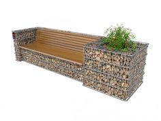 Pin on Grădini cu piatra Diy Garden Fence, Backyard Garden Design, Yard Design, Diy Garden Decor, Gabion Fence, Gabion Wall, Garden Seating, Front Yard Landscaping, Garden Projects
