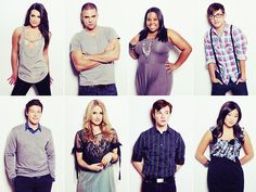 Lea Michele, Mark Salling, Amber Riley, Kevin McHale, Cory Monteith, Dianna Agron, Chris Colfer and Jenna Ushkowitz