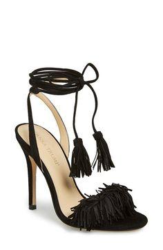 a48bc669c784 Ivanka Trump  Hettie  Fringe   Tassel Sandal (Women) - Dense fringe dances  along the toe strap of a sultry leather sandal lifted by a slender heel