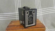 Antique Kodak Brownie Target Six-20 BOX CAMERA. Art Deco. Wedding Decor. Home Decor.