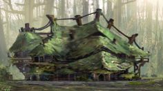 Swamp Lodge by Griffin Hanzsek | Architecture | 2D | CGSociety