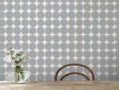 Marimekko wallpaper from Midbec.    http://www.fromscandinaviawithlove.com/post/992184466/marimekko-wallpaper-from-midbec#