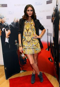 A Diane von Furstenberg mini and Proenza Schouler booties for Fashion's Night Out in 2010.