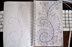 May Your Bobbin Always Be Full: Sketch Book.....more Plume Designs