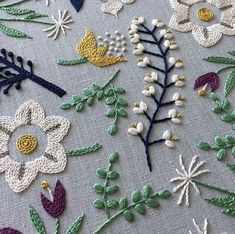 The Latest Trend in Embroidery – Embroidery on Paper - Embroidery Patterns Embroidery Designs, Crewel Embroidery Kits, Creative Embroidery, Simple Embroidery, Paper Embroidery, Japanese Embroidery, Silk Ribbon Embroidery, Hand Embroidery Patterns, Machine Embroidery