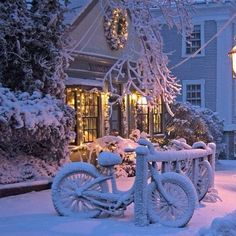 Beautiful snowy house #house #home #christmas #snow #winter #cosy #cute #architecture #wreath #like #love #potd #Padgram