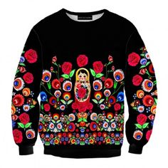 Bluza Matrioszka (Matrioshka sweatshirt) #print #matrioszka #clothing #art #slavic #brand #sweatshirt #nadruk #folk #streetwear #streetfashion