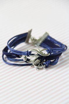 Navy Anchor Bracelet