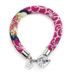 """Desirù Chubby """"Hollywood cherry"""" with Swarovski button #desirù #bracelet #desirumilano #fashion #swarovski #kimono #button #expò2015"""