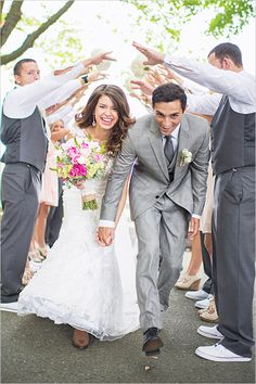 Fun wedding exit idea. Captured By: Aimee McAuley ---> http://www.weddingchicks.com/2014/05/20/italian-infused-rustic-chic-wedding/