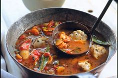 Vegetable and seafood broth recipe, NZ Womans Weekly – The fragrant aromas of oregano and coriander come together in the delectable seafood broth - Eat Well (formerly Bite) Carrot And Coriander, Fresh Coriander, My Favorite Food, Favorite Recipes, Green Capsicum, Tomato Vegetable, Seafood, Yummy Food