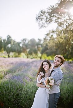 """Brides.com: . """"I was inspired by the beautiful venue and the radiant, airy nature of the bride,"""" says Sanford. """"I imagined her gathering the prettiest blooms in the farm's garden on the way to meet her love."""""""
