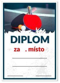 diplom stolní tenis – Obrázky.cz Tennis