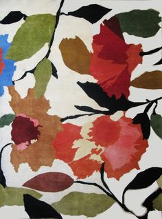 """Begonias"" plush designer rug from the Kim Parker Home collection."