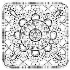 Search engine marketing for interior design companies (Pattern) - Crochet Filet Filet Crochet, Crochet Doily Diagram, Crochet Motif Patterns, Crochet Blocks, Granny Square Crochet Pattern, Crochet Squares, Crochet Granny, Crochet Doilies, Knit Crochet