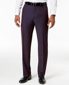 Sean John Men's Classic-Fit Plum Dress Pants