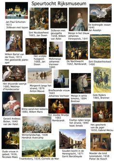 Speurtocht Rijksmuseum Ga op zoek naar de schilderijen uit het Grote Rijksmuseum Voorleesboek.