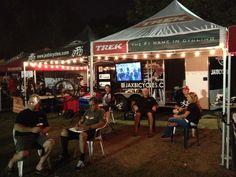 Jax Bicycle Center and Trek Bicycles after dark at #overthehump race series.