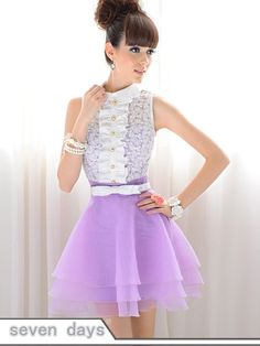 Free Shipping Elegant Lady Natural Waist Lace Single-breasted Doll Collar Sleeveless Ball Gown Dress  NL071113PR on AliExpress.com. 6% off $21.61