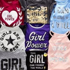 Girls' fashion | Kids' clothes | Girl power graphic tees | The Children's Place
