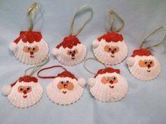 schelpen beschilderen als kerstman