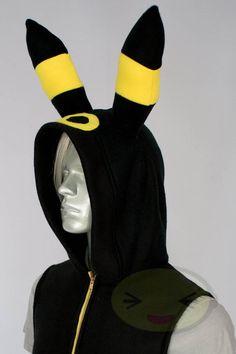Umbreon Vest, Costume, Hoodie, Vest, Jacket, Hand-made, Cosplay, Pokemon.    ERMERGERSH! i NEED IT!!!!!