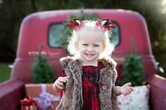 Handmade Reindeer Antlers Hair Clips by mommy2pdiddy on Etsy