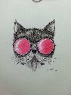 Cat with Glasses!