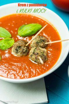 Krem z pomidorów i mięsne KULKI MOCY