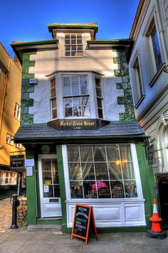 The Crooked House of Windsor (also known as the Market Cross House) in Windsor, England is a British building constructed in now a restaurant. City of Windsor, Berkshire. Notice the new window and front door. No longer crooked. England And Scotland, England Uk, London England, Windsor England, House Of Windsor, Windsor Castle, The Places Youll Go, Places To Go, Crooked House