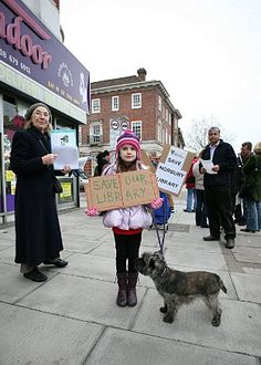 Young Norbury Library protester
