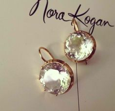 18k white topaz Taormina earrings  These would make for the perfect wedding day earring !