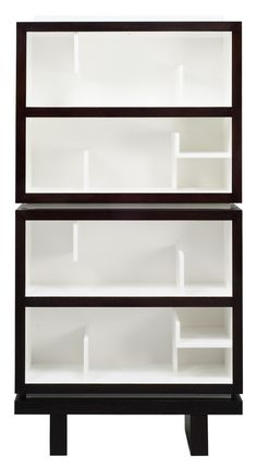 Clean lines. // Double bookcase.