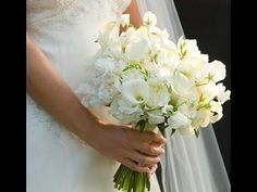 How To Make Romantic Wedding Bouquet Step By Step - YouTube
