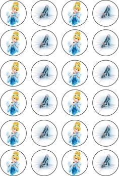 Cinderella / Cinderella Shoe Rice Paper 24 Edible CUPCAKE TOPPERS Disney Princess Birthday Party, Ballerina Birthday Parties, Cinderella Birthday, Princess Party, Cinderella Cupcakes, Cinderella Shoes, Bottle Top Crafts, Girl Birthday Decorations, Edible Cupcake Toppers