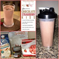 310 Chocolate Almond Milk (unsweetened) 1 Cup Frozen Strawberries 1 TBSP Chocolate Hershey Spread 1 Cup Ice and Blend 310 Shake Recipes, Protein Shake Recipes, Smoothie Recipes, Protein Shakes, Healthy Recipes, Healthy Tips, Diet Recipes, Healthy Food, Recipies