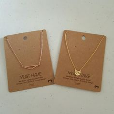 Set of Two  Thin Cooper Necklaces  #fashion #shopping #style #forsale #Jewelry