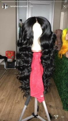 Lace Front Black Wig fab fringe wig Lace hair wigs and prices – Rillyy Lace Front Wigs, Lace Wigs, Curly Hair Styles, Natural Hair Styles, Wig Styles, Wigs Online, Hair Online, Black Curly Hair, Body Wave Hair