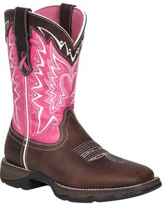 Durango Ladies Breast Cancer Awareness Boot (my christmas present I picked out!)